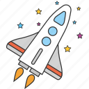 astronomy, cosmonaut, rocket, shuttle, space, spaceship, startup icon