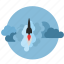 bomb, cosmos, rocket, ship, space, start, stratosphere icon