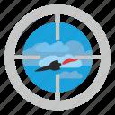 bomb, fly, rocket, target, terrorist icon