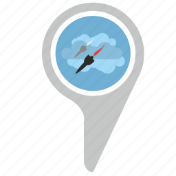 bomb, direction, location, place, rocket icon