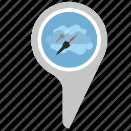 bomb, direction, location, place, rocket, terrorist icon