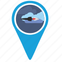 bomb, direction, place, pointer, rocket, ship, space icon