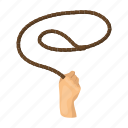 lariat, lasso, loop, rope icon