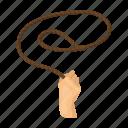 lariat, lasso, loop, rope