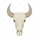 bone, bull, head, horns, skull, stuffed icon