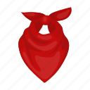 accessory, bandage, clothing, cowboy, scarf icon