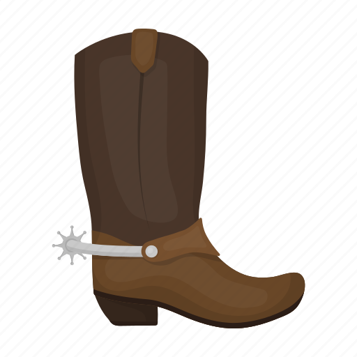 boots, cowboy, leather, shoes, spur icon