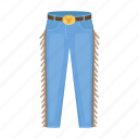 clothes, cotton, cowboy, jeans, pants, uniform icon