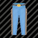 clothes, cotton, cowboy, jeans, pants, uniform icon