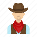 cowboy, farmer, hat, rodeo, scarf icon