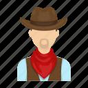 cowboy, farmer, hat, rodeo, scarf