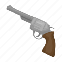 colt, pistol, revolver, weapon icon