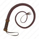 bathog, cowboy, equipment, lash, rodeo, whip icon