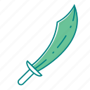cutlass, pirate, pirate sword, sword, weapon icon