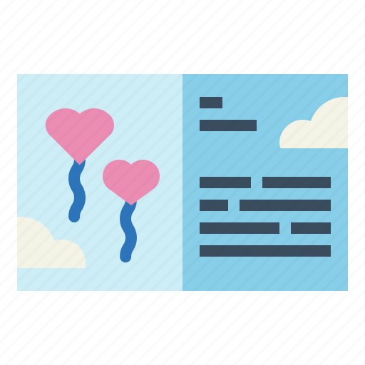 card, letter, love, romance icon