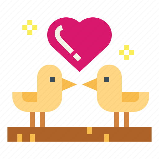 Birds, couple, heart, love icon - Download on Iconfinder
