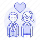 1, boyfriend, couple, engagement, girlfriend, happy, heart, in, love, romance, together icon