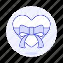 anniversary, bow, box, celebration, gift, heart, love, present, ribbon, romance, surprise