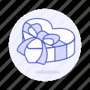 box, heart, anniversary, present, ribbon, romance, love, bow, celebration, gift, surprise