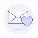 1, anniversary, envelope, heart, letter, love, romance, secret icon