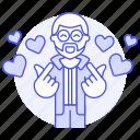 male, dating, online, heart, happy, mini, love, in, gesture, hand, boyfriend, romance