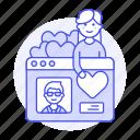 application, choose, dating, female, like, online, partner, profile, romance, window