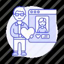 application, male, romance, online, window, info, dating, user, profile, view, like