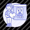 application, romance, online, window, info, dating, female, user, profile, view, like