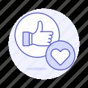 app, dating, emoji, heart, like, love, network, online, romance, social, thumbs, up
