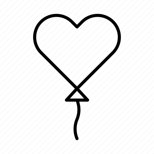 ballon, heart, like, love, romance, valentine icon