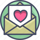 heart, holidays, letter, love, love valentines, romance icon