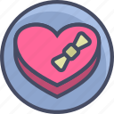 chocolates, gift, heart, love, romance, valentines icon