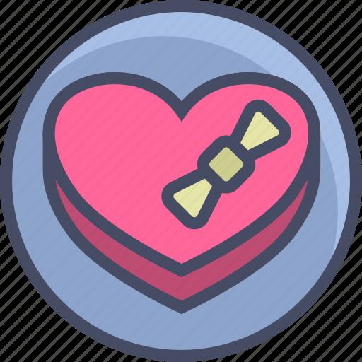 chocolates, gift, heart, love, romance, valentines icon