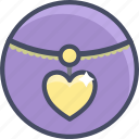 gift, heart, love, necklace, romance, valentines icon