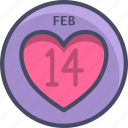 date, heart, holidays, love, romance, sweet, valentines icon