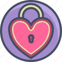 heart, lock, locket, love, romance, sweet, valentines icon