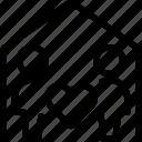 heart, woman, love, house, couple, romance, person, user, human, home, man icon