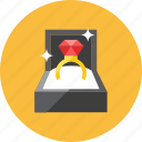 engagement, ring icon