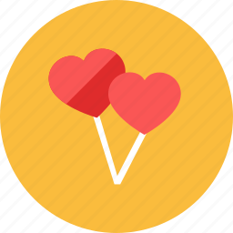 balloon, heart icon
