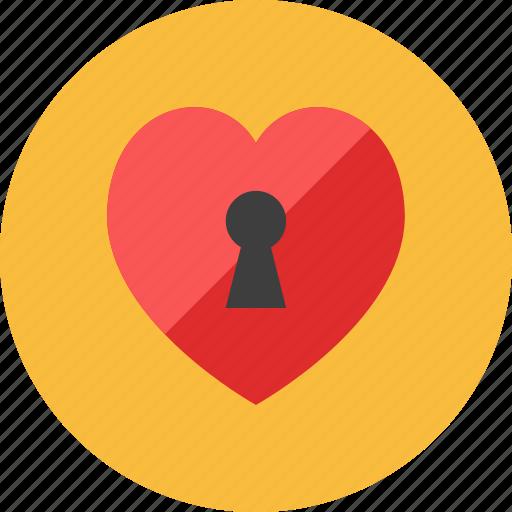 2, heart, key icon