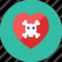 heart, skull icon