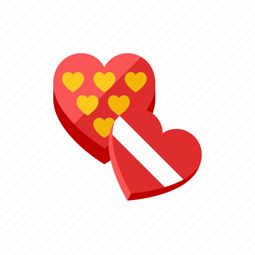 gift, heart icon