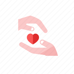 hand, heart icon