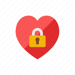 heart, lock icon