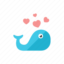 love, whale icon