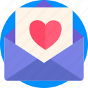 heart, holidays, letter, love, mail, romance, valentines icon