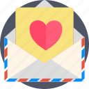 airmail, holidays, letter, love, romance, valentines icon