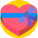 chocolates, gift, holidays, love, romance, valentines icon