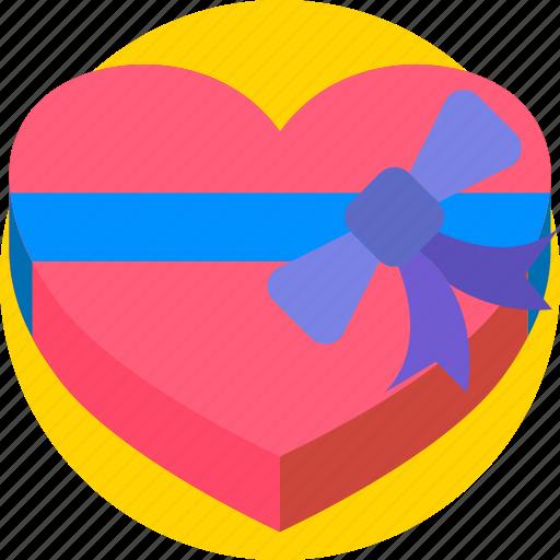 chocolates, gift, holidays, love, romance, valentines icon