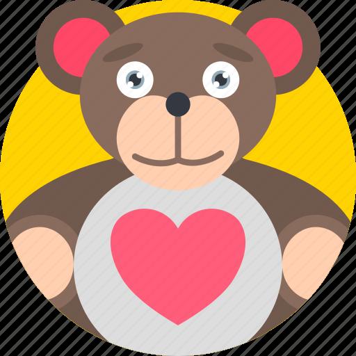 gift, holidays, love, romance, teddy, valentines icon